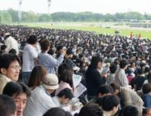 12万の観客で埋まった東京競馬場